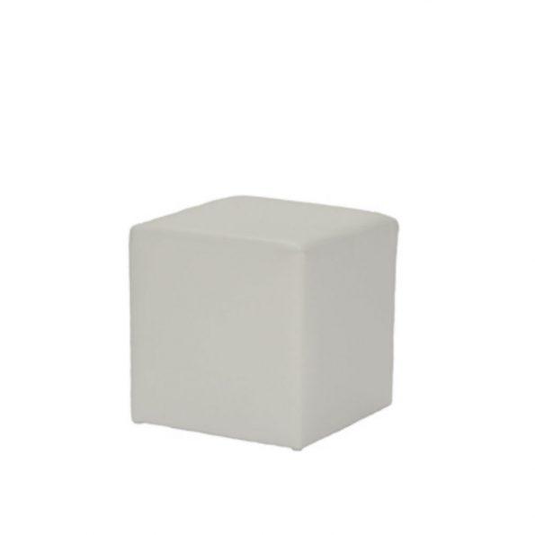 Terrific Cube Ottoman White Ruth Fischl Event Rental Creativecarmelina Interior Chair Design Creativecarmelinacom