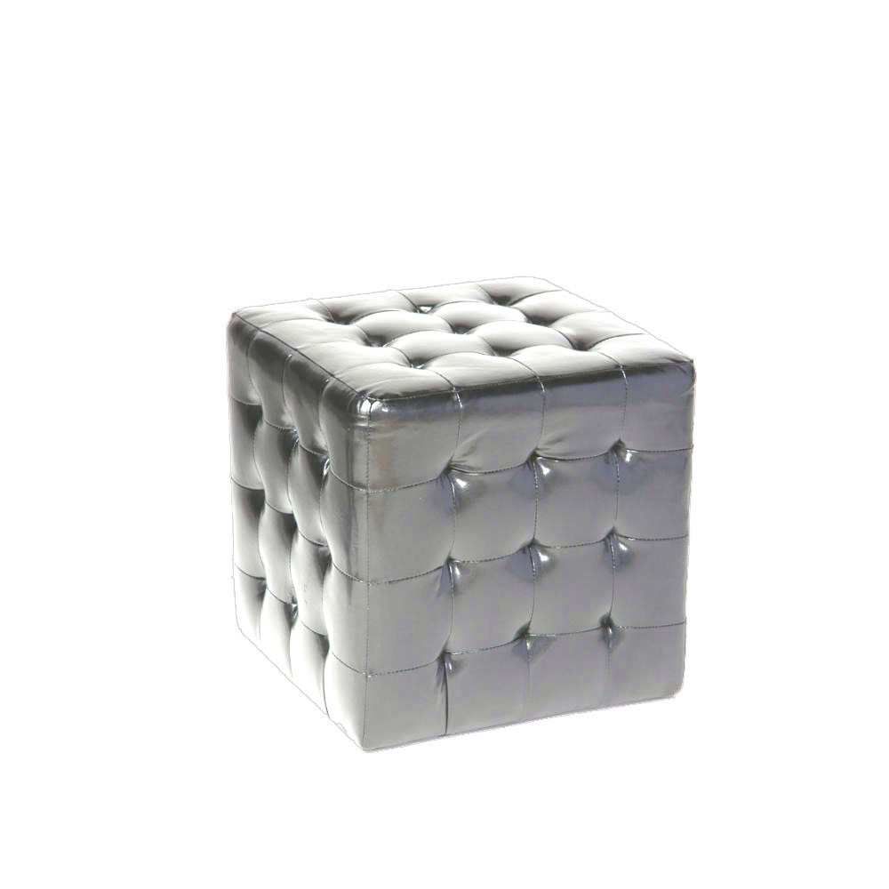 Fantastic Square Tufted Ottoman Silver Ruth Fischl Event Rental Bralicious Painted Fabric Chair Ideas Braliciousco