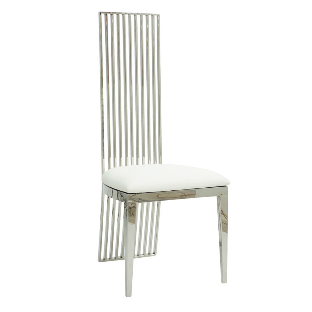 Fine Rodeo Dining Chair Chrome White Ruth Fischl Event Rental Bralicious Painted Fabric Chair Ideas Braliciousco
