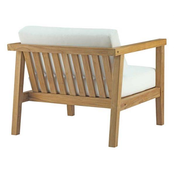 Veranda Outdoor Patio Teak Armchair Back