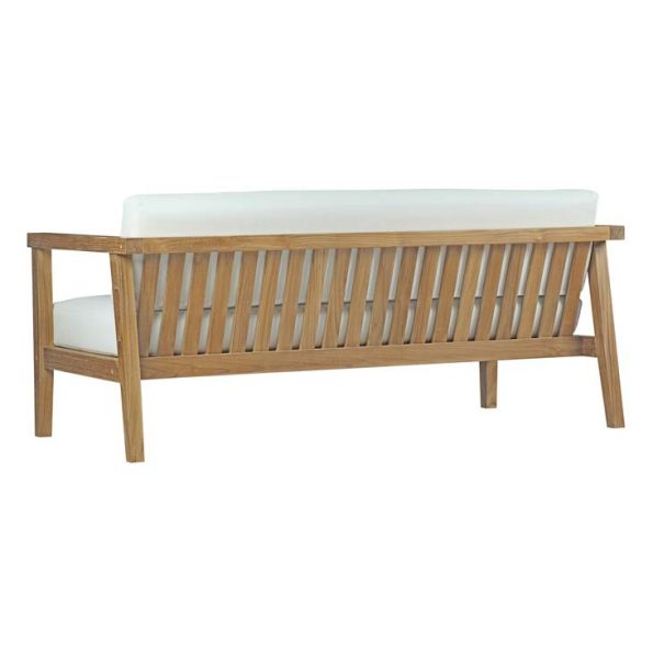 Veranda Outdoor Patio Teak Sofa Natural White Back