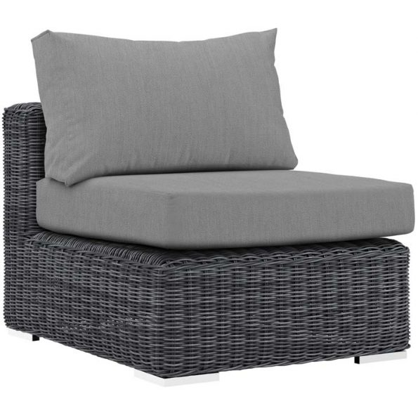 Reservoir Outdoor Patio Armless In Canvas Gray